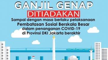 Masih PSBB, Pemprov DKI Jakarta Tak Berlakukan Ganjil Genap Hingga 23 April