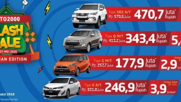 Program Toyota Auto2000, Untuk Habiskan Stock Harga Dipangkas Sangat Besar