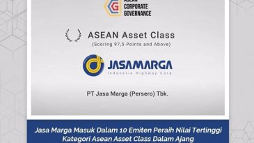 Jasa Marga Masuk Daftar 10 Perusahaan ASEAN Asset Class