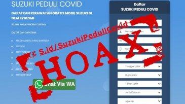 "SIS Pastikan Program ""Suzuki Peduli Covid"" Hoax"