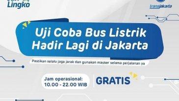 Transjakarta Mulai Uji Coba Bus Listrik Secara Gratis