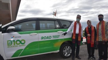 Pertamina Sukses Uji Coba Green Diesel D-100 Sejauh 200 Km