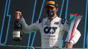 Perdana dan Luar Biasa, Pierre Gasly dan Timnya Raih Podium 1 di F1 2020 GP Italia