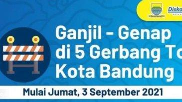 Sistem Ganjil Genap Di Gerbang Tol Kota Bandung Mulai 3 September